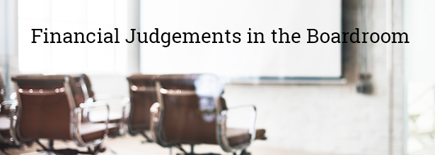 Financial Judgements in the Boardroom Blog image June19